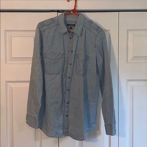 Denim Button up Express shirt Size M